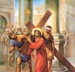 Jesus carrega a cruz