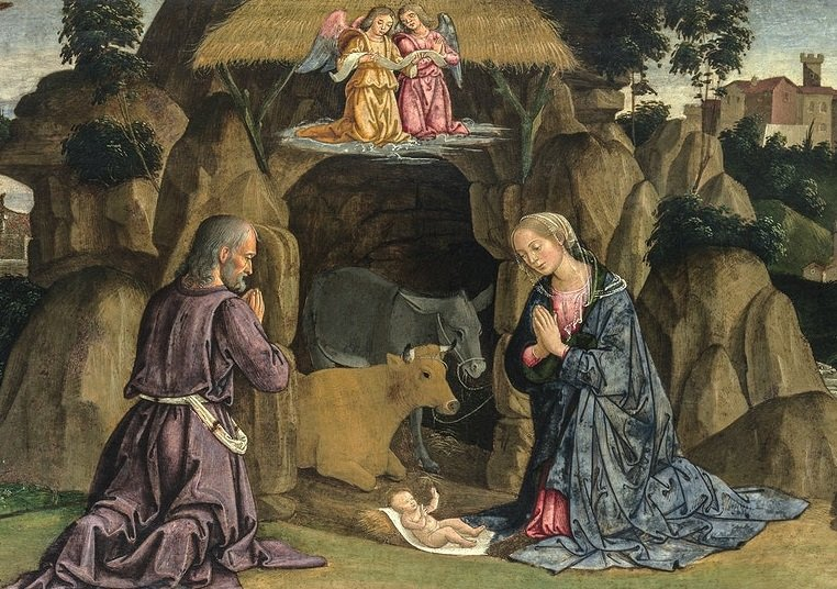 The Nativity (1480s) by Antoniazzo Romano. Original from The MET Museum. Digitally enhanced by rawpixel